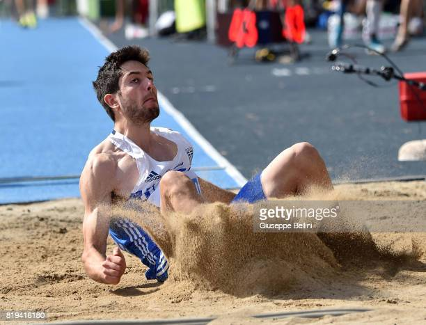 Militiadis Tentoglou of Greece in action during European Athletics U20 Championships on July 20 2017 in Grosseto Italy