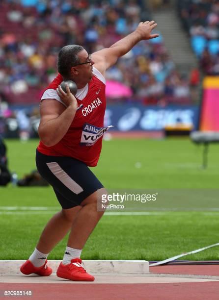 Miljenko Vucic of Crotia competing Men's Shot Put F12 during World Para Athletics Championships at London Stadium in London on July 22 2017
