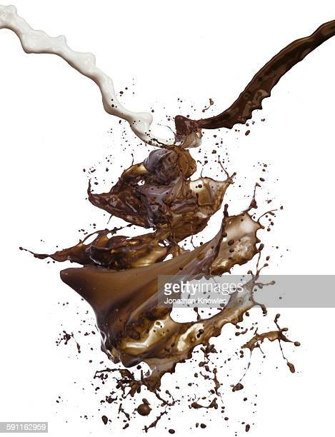Milk and chocolate pour