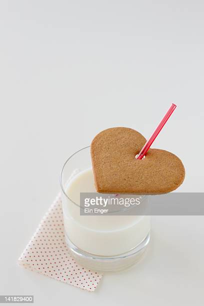 Milk and gingerbread cookie