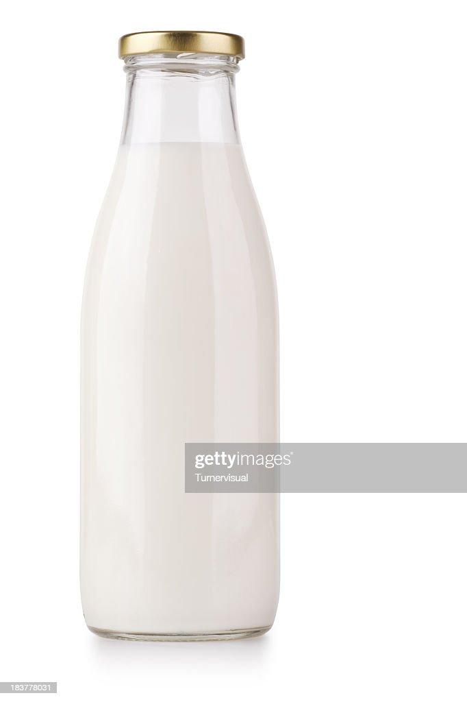 Milk Bottle + Clipping Path