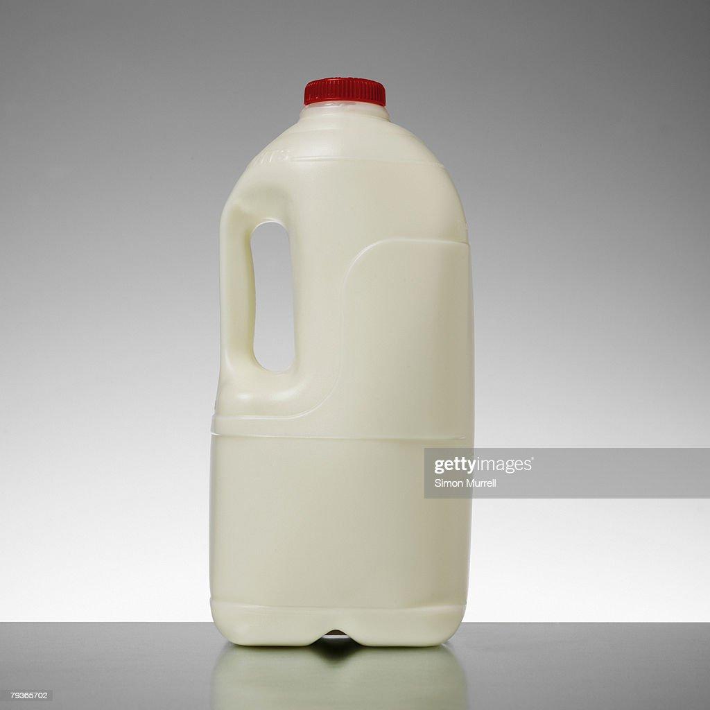 Milk bottle indoors on table