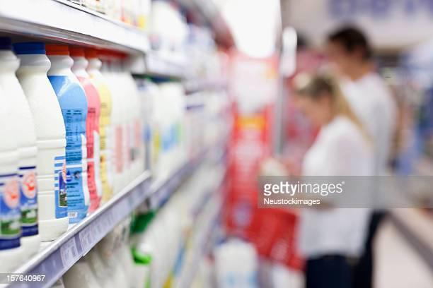 Milk Bottles on the Shelves
