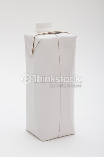Milk Water Juice Liquid Box Shape Container In White Colour
