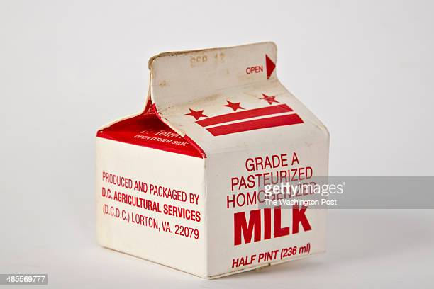 Milk Carton from the Dairy at Lorton from the Workhouse Museum's Collection at the Historical DC Correctional Complex at Lorton on May 14 2013 in...