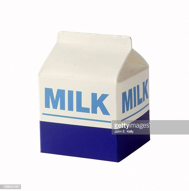 Milk carton on white