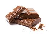 pile of milk chocolate blocks