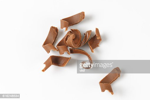 milk chocolate shavings : Stock Photo