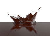 milk chocolate splash 3d illustration