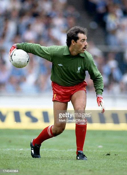 MIlk Cup Final Football Liverpool v Manchester United Liverpool goalkeeper Bruce Grobbelaar
