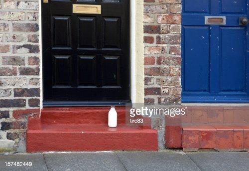 Milk delivery on doorstep