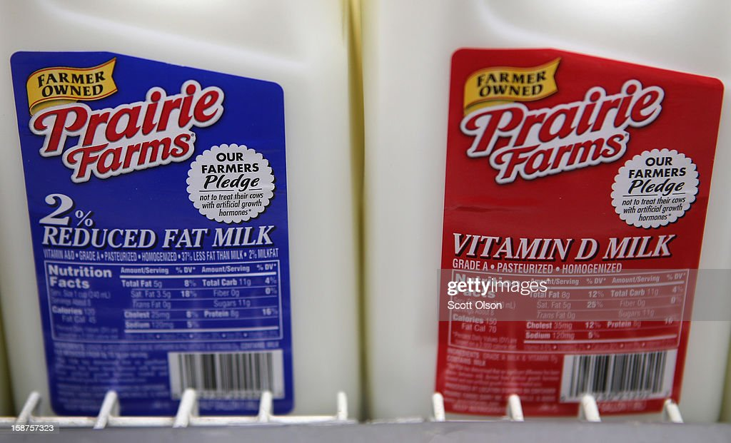 Milk is offered for sale at a grocery store on December 27, 2012 in Chicago, Illinois. Milk prices could spike to $6 to $8 a gallon in January if lawmakers fail to reach a 'fiscal cliff' deal and renew a Farm Bill that's been in place since 2008 and sets the price at which the government buys milk.
