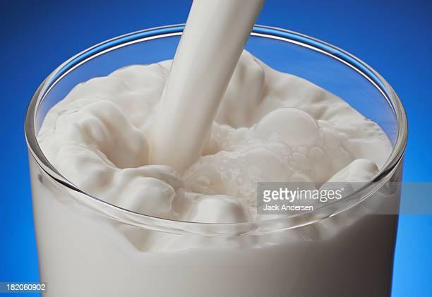 Milk pour in a glass