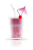 milk shake isolated on white background