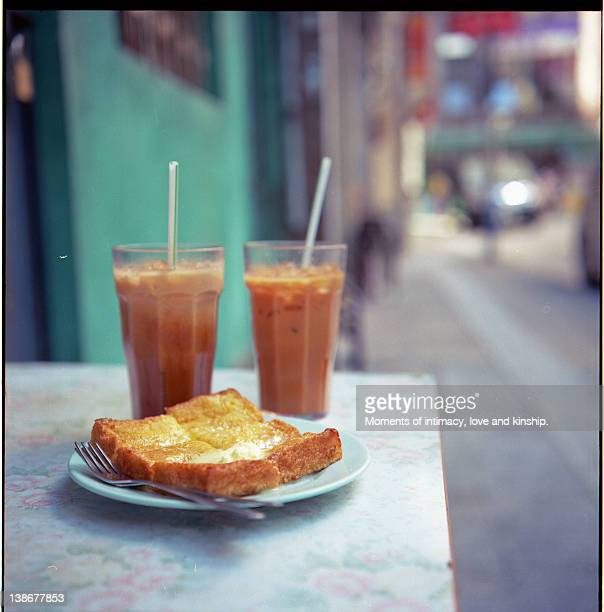 Milk tea and french toast