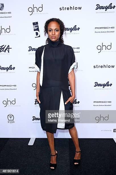 Milka Loff Fernandes arrives for the Fashion Net Presents Duesseldorf Designers show during Platform Fashion July 2015 at Areal Boehler on July 25...