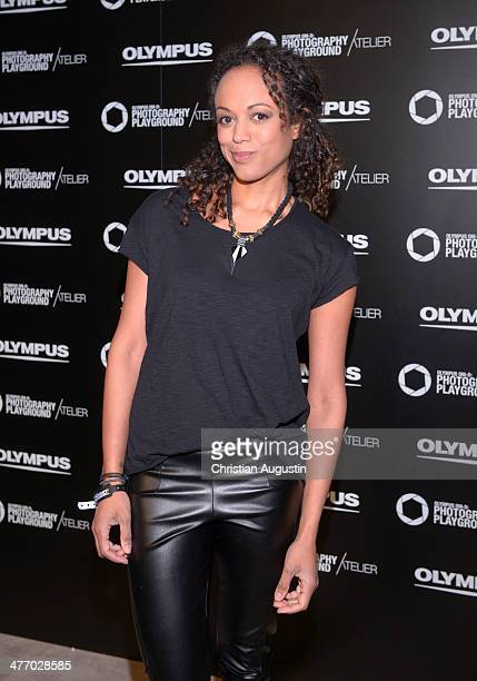 Milka Loff Fernandes attends opening of 'Olympus OMD Photography Playground' on March 6 2014 in Hamburg Germany