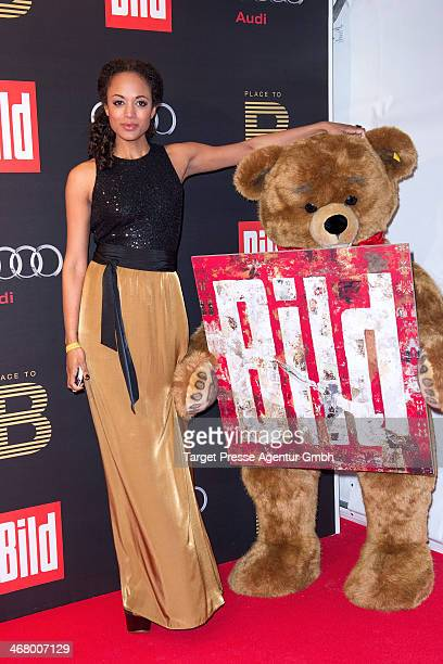 Milka Loff Fernandes attends the BILD 'Place to B' Party at Grill Royal on February 8 2014 in Berlin Germany