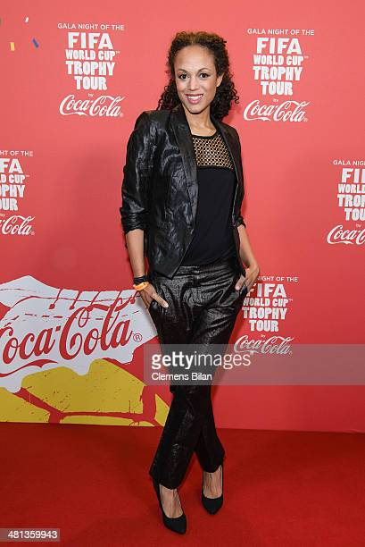 Milka Loff Fernandes attends the Gala Night of the FIFA World Cup Trophy Tour on March 29 2014 in Berlin Germany