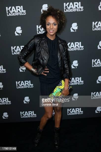 Milka Loff Fernandes attends the Karl Lagerfeld store opening on September 4 2013 in Munich Germany