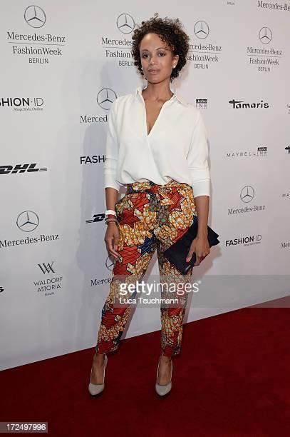 Milka Loff Fernandes attends the Kilian Kerner Show during MercedesBenz Fashion Week Spring/Summer 2014 at Brandenburg Gate on July 2 2013 in Berlin...