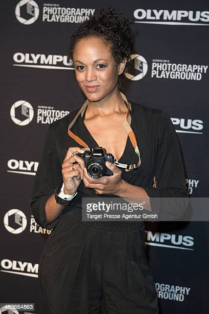 Milka Loff Fernandes attends the 'Olympus OMD Photography Playground' Opening at Opernwerkstaetten on April 9 2014 in Berlin Germany