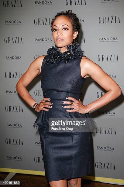 Milka Loff Fernandes attends the Pandora At Grazia Best Dressed Award at Soho House on May 14 2014 in Berlin Germany