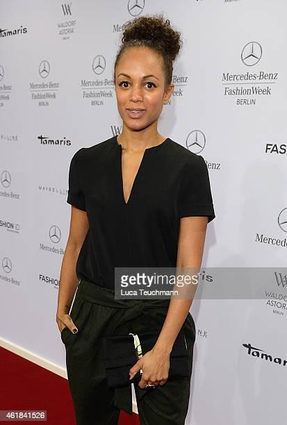 Milka Loff Fernandes attends the Riani show during the MercedesBenz Fashion Week Berlin Autumn/Winter 2015/16 at Brandenburg Gate on January 20 2015...