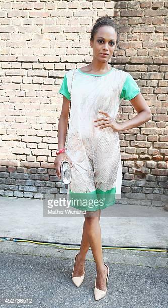 Milka Loff Fernandes attends the Sportalm Show on July 26 2014 in Duesseldorf Germany