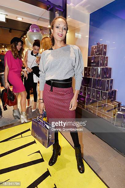 Milka Loff Fernandes poses at the Laurel store opening on November 7 2013 in Cologne Germany