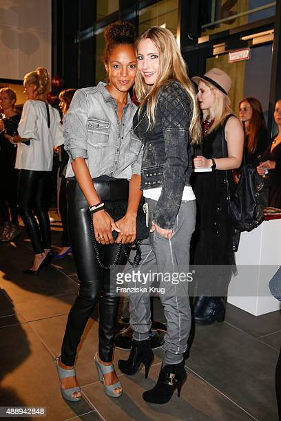 Milka Loff Fernandez and Florentine Lahme attend the 'La Boum Fashion Studio' by Soccx on September 18 2015 in Hoppegarten/ Berlin Germany