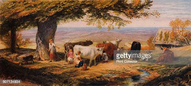 Milking in the Field' c1847 From A Catalogue of the Pictures and Drawings in the collection of Frederick John Nettleford Volume III I to S by C...