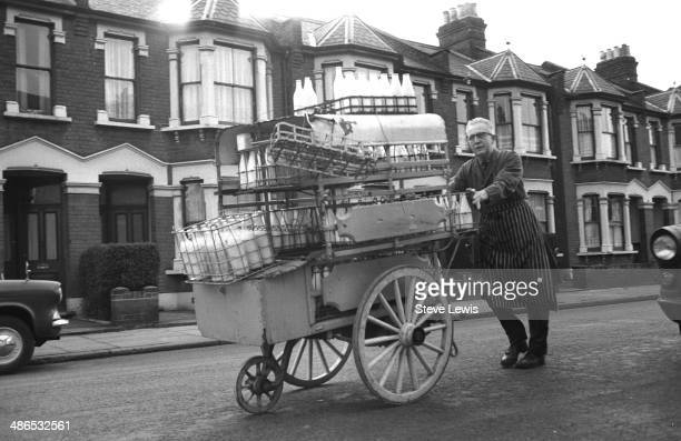 A milkman does his rounds in London's East End during the 1960s