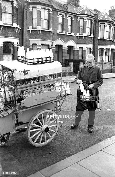 A milkman in London's East End circa 1970