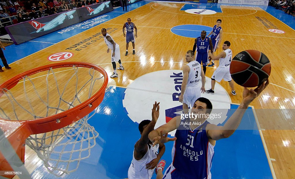 <a gi-track='captionPersonalityLinkClicked' href=/galleries/search?phrase=Milko+Bjelica&family=editorial&specificpeople=5617486 ng-click='$event.stopPropagation()'>Milko Bjelica</a>, #51 of Anadolu Efes Istanbul in action during the 2014-2015 Turkish Airlines Euroleague Basketball Regular Season Date 9 game between Anadolu Efes Istanbul v Nizhny Novgorod at Abdi Ipekci Arena on December 12, 2014 in Istanbul, Turkey.