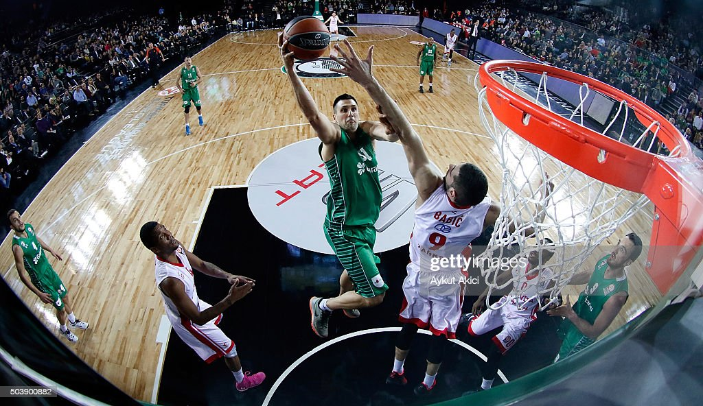 <a gi-track='captionPersonalityLinkClicked' href=/galleries/search?phrase=Milko+Bjelica&family=editorial&specificpeople=5617486 ng-click='$event.stopPropagation()'>Milko Bjelica</a>, #51 of Darussafaka Dogus Istanbul in action during the Turkish Airlines Euroleague Basketball Top 16 Round 2 game between Darussafaka Dogus Istanbul v Cedevita Zagreb at Volkswagen Arena on January 7, 2016 in Istanbul, Turkey.