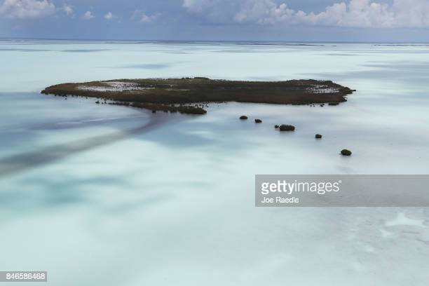 A milky colored Florida Bay is seen after Hurricane Irma passed through the area on September 13 2017 in Homestead Florida The Florida Keys took the...