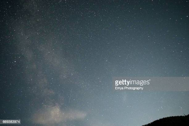 Milky way and falling stars