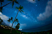 MAUI, HAWAII - MARCH 26:  The Milky Way and planet Jupiter appear in the early morning hours of March 26, 2018, in Lahaina, on the island of Maui, HI.  (Photo by Marissa Baecker/Shoot the Breeze)  ***