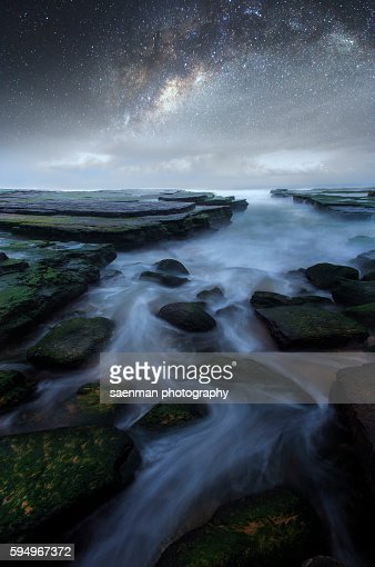 Milky way at Turimetta beach
