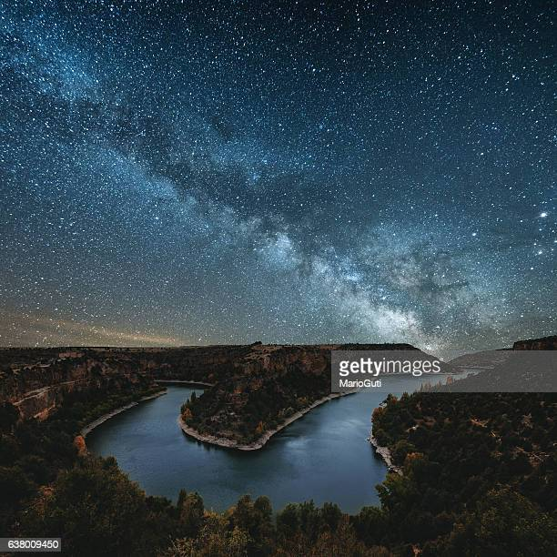 Milky way by the river