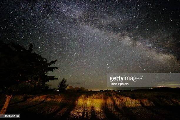 Milky Way Galaxy Shines Brightly Above the Horizon
