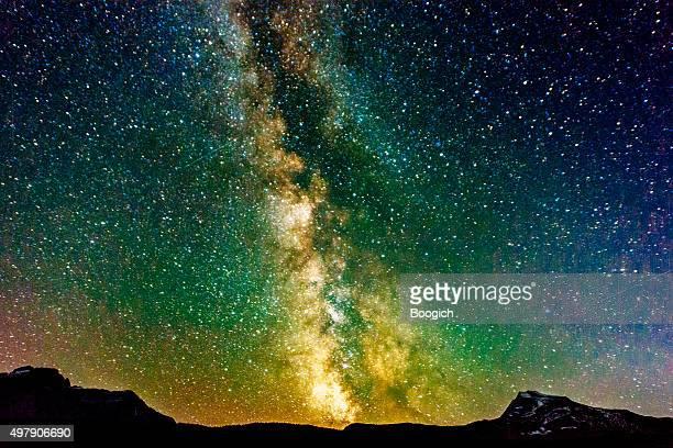 Milchstraße Galaxy View Reynolds Berg Glacier National Park, Montana