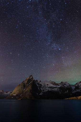 Milky Way, Hamnoy, Lofoten Islands, Norway