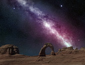 milky way in arches national park, utah