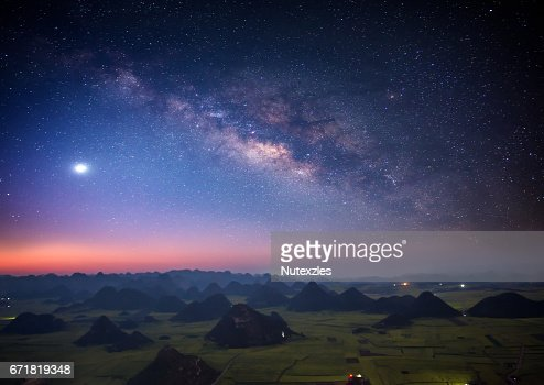 beautiful starry night sky wallpaper