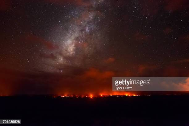 Milky Way over a Lava Flow in Hawaii