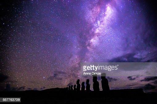 Milky Way over Ahu Tongariki, Easter Island