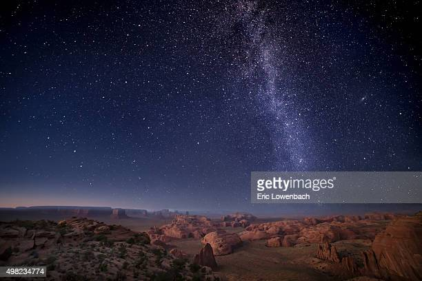 Milky Way over Arizona Desert Mesas