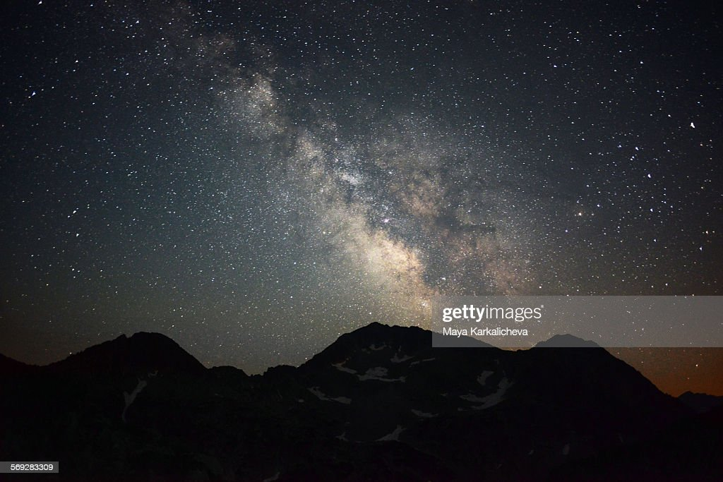 Milky way over Pirin mountain, Bulgaria